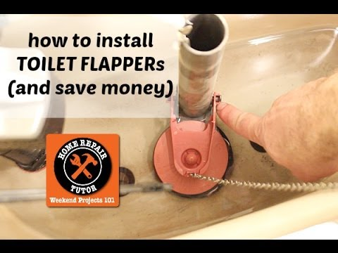 How To Replace A Toilet Flapper Valve By Home Repair Tutor