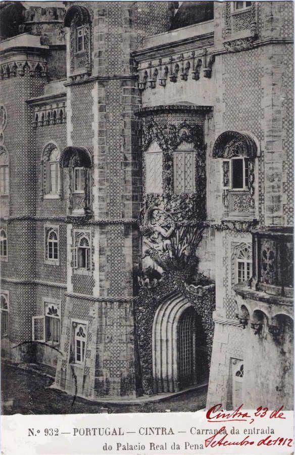 Carranca da entrada do Palacio Real da Pena
