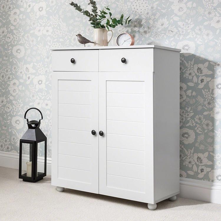 Shoe Cabinet Storage Cupboard Wooden, Shoe Storage White Cabinet