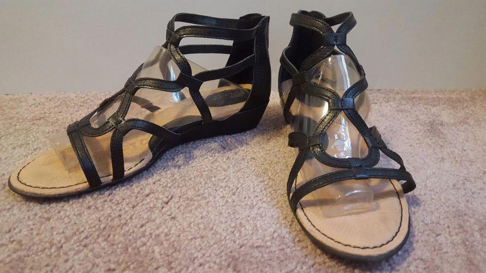 3cf8fae3fd5d B.O.C. Born Concept Pawel Low Wedge Gladiator Sandals 309 Black sz 7 w box   fashion  clothing  shoes  accessories  womensshoes  sandals (ebay link)    ...