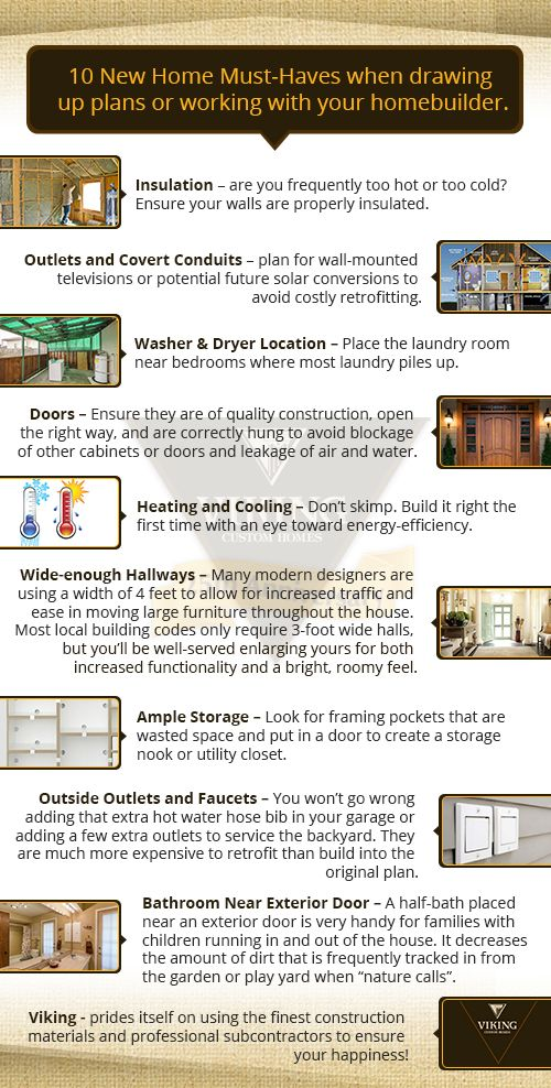 10 New Home Must Haves When Drawing Up Plans Or Working With Your