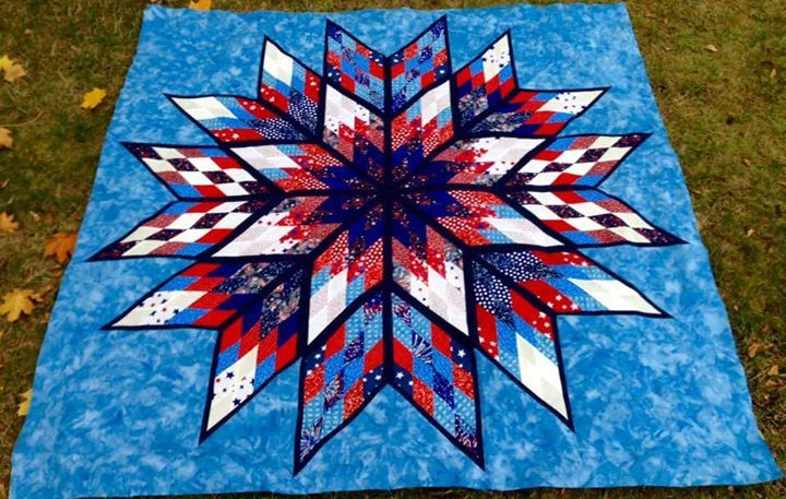Prismatic Star, Quiltworx.com, Made by Sue Dee