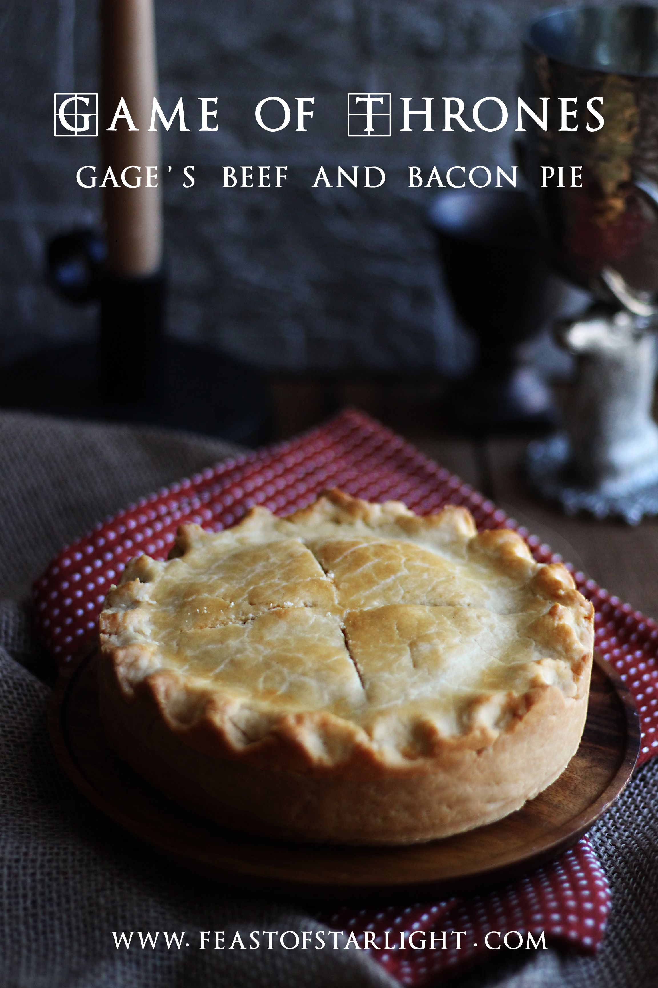 Game Of Thrones Beef And Bacon Pie Feast Of Starlight Recipe Bacon Pie Medieval Recipes Food