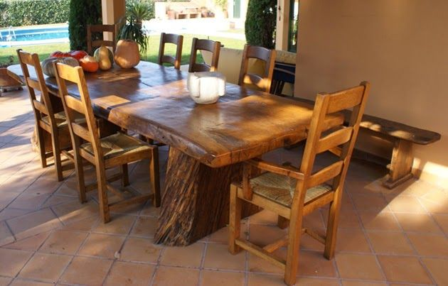 Mesa rustica madera cool mesa rustica madera with mesa for Mesas de madera rusticas