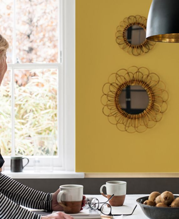 couleur mur ocre dor jaune peinture jaune couleur. Black Bedroom Furniture Sets. Home Design Ideas