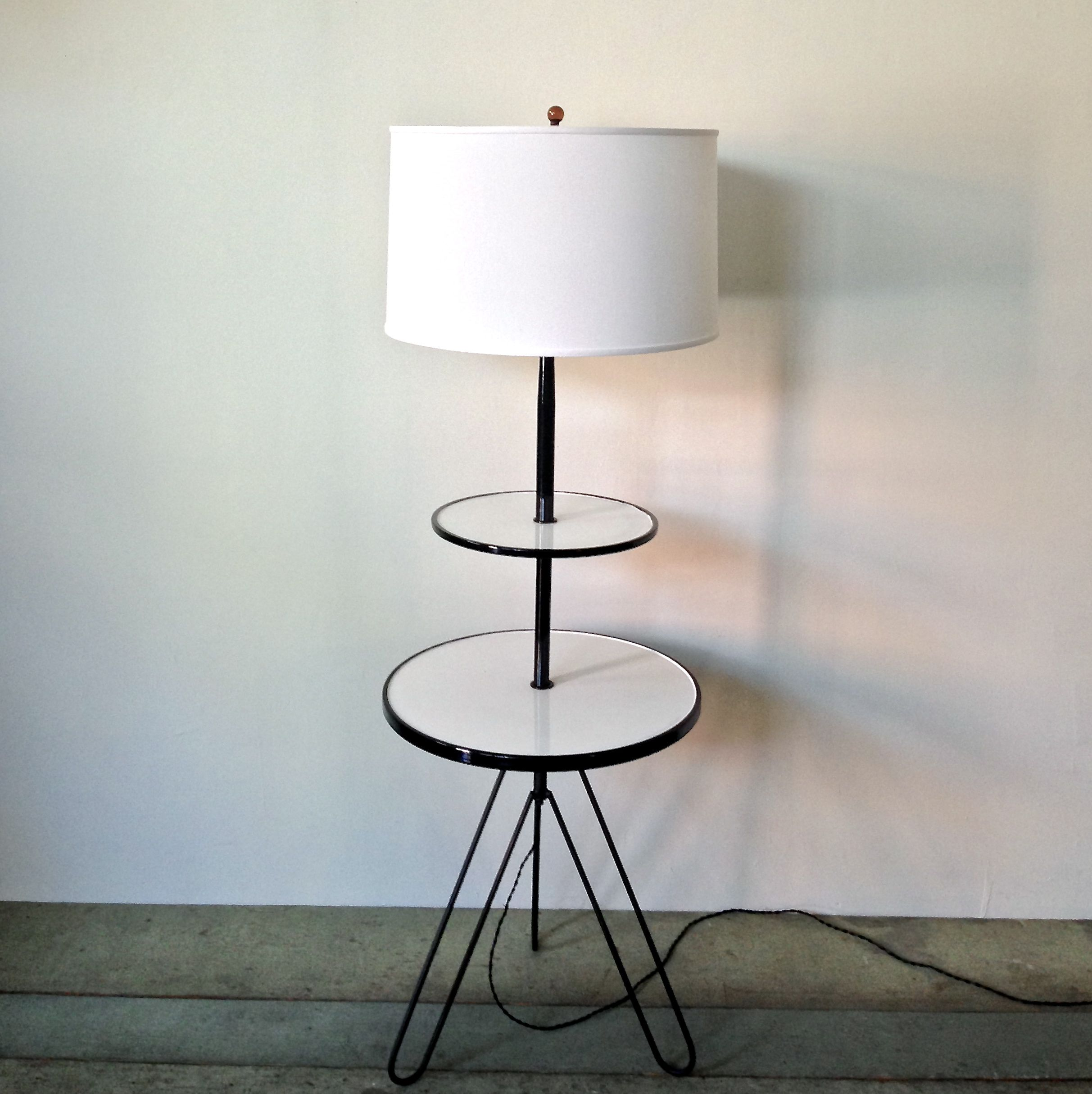 Cool mid century floor lamp with hairpin legs painted for White painted floor lamp