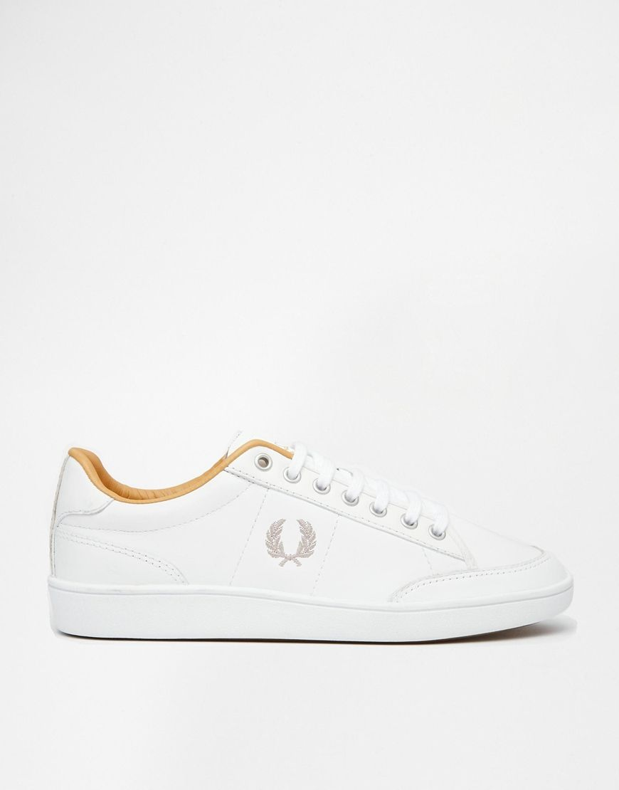 Buy Women Shoes / Fred Perry Hopman White Leather Trainers