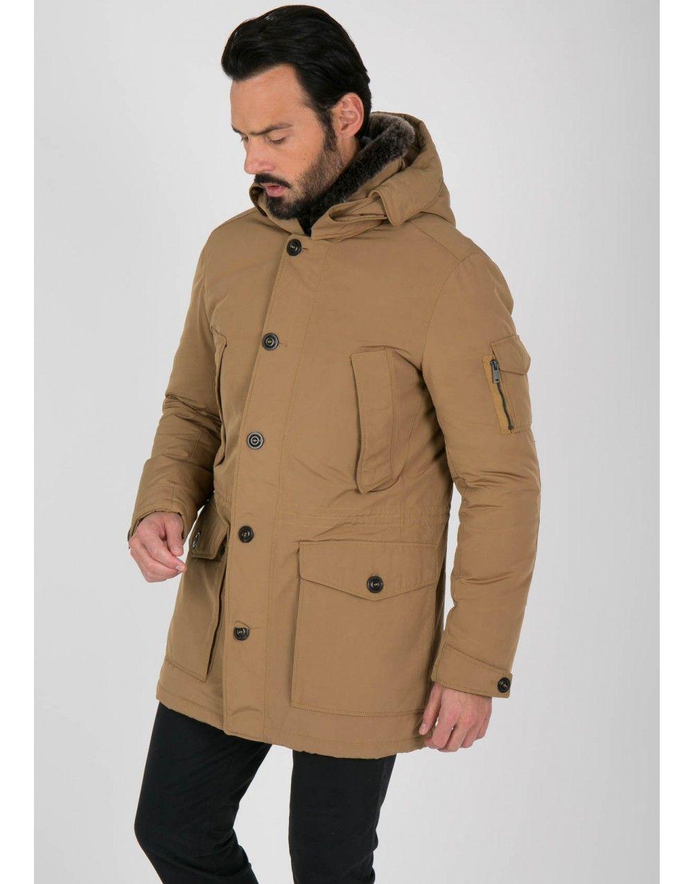 super promotions 50-70% de réduction assez bon marché Parka homme beige col fourrure   Clothes   Parka, Coat, Jackets
