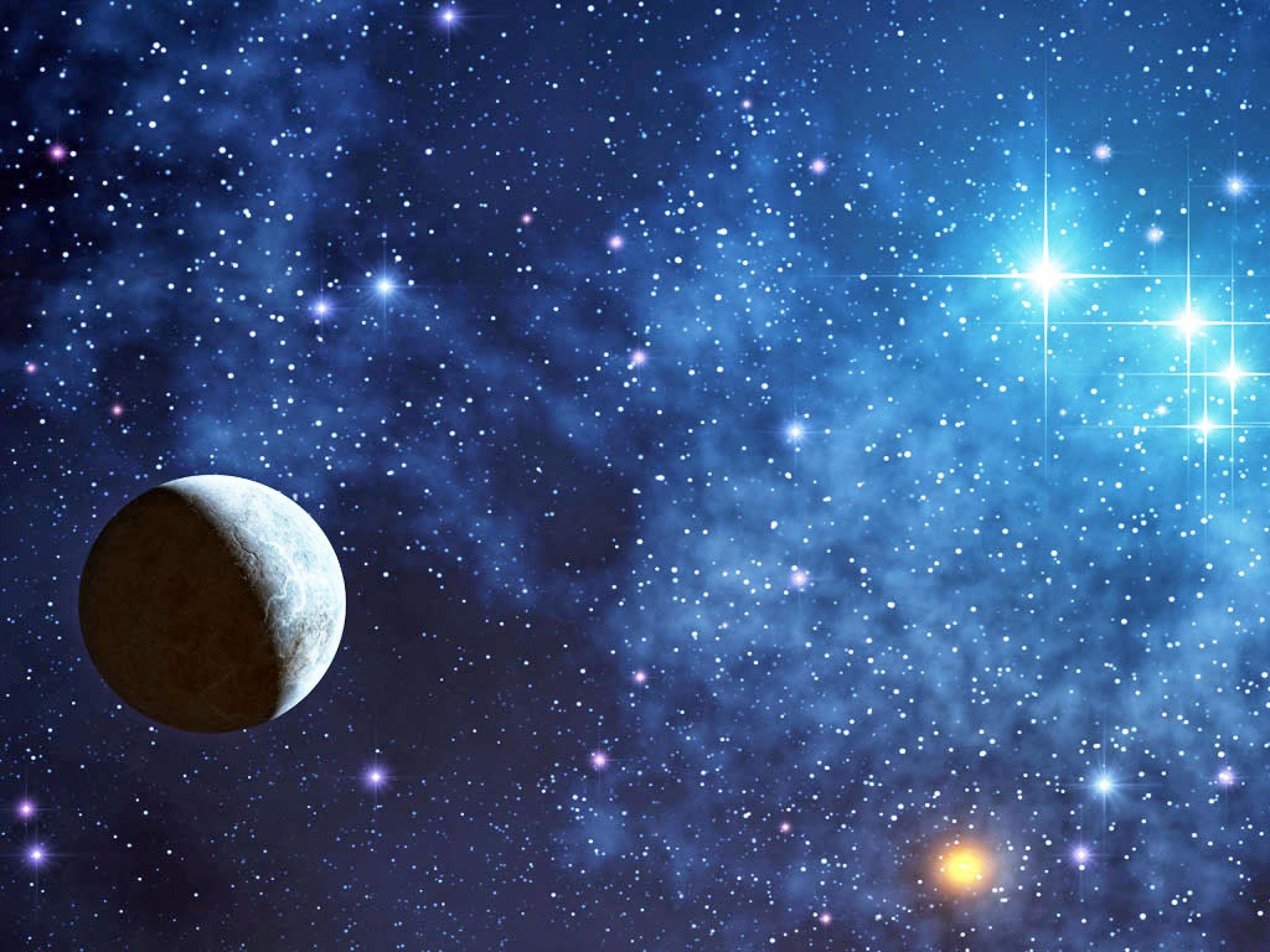 2560x1920 Wallpaper: Moon Surrounding With Stars Wallpaper