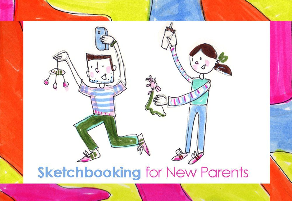 FREE link to sketching for new parents class on