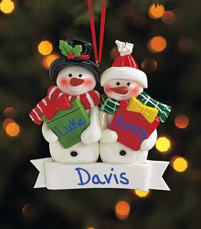 This Personalized Snowman Ornament Is A Small Gift That Will Make A