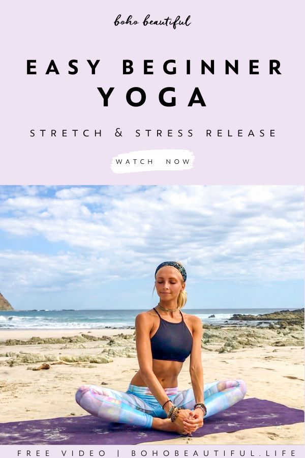 Beginner Stretch & Stress Release - Boho Beautiful