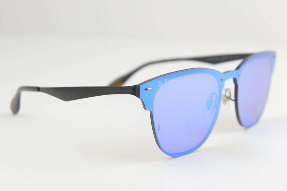8064aa44040 Ray-Ban men s women Blaze Clubmaster sunglasses RB 3576-N 153 7V 140  Black Blue  fashion  clothing  shoes  accessories  unisexclothingshoesaccs  ...