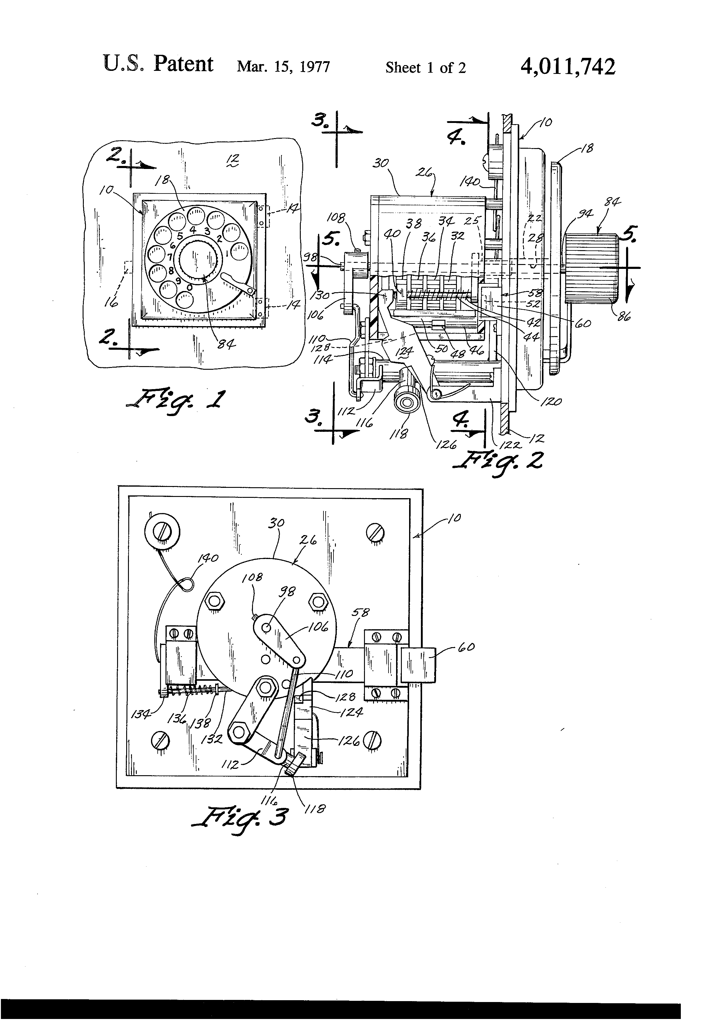 Patent Us4011742 Lock Device Google Patents Hand Of X Combination Diagram