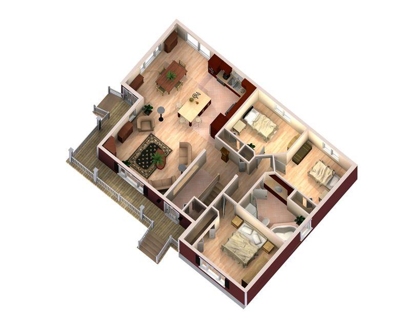 Maitre Constructeur St-Jacques - Maison usinée Sabrina 3 chambres