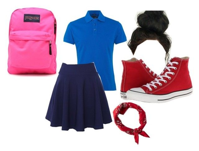 """My Uniform"" by deshae27 on Polyvore featuring Armani Jeans, JanSport, QNIGIRLS, Converse and American Eagle Outfitters"
