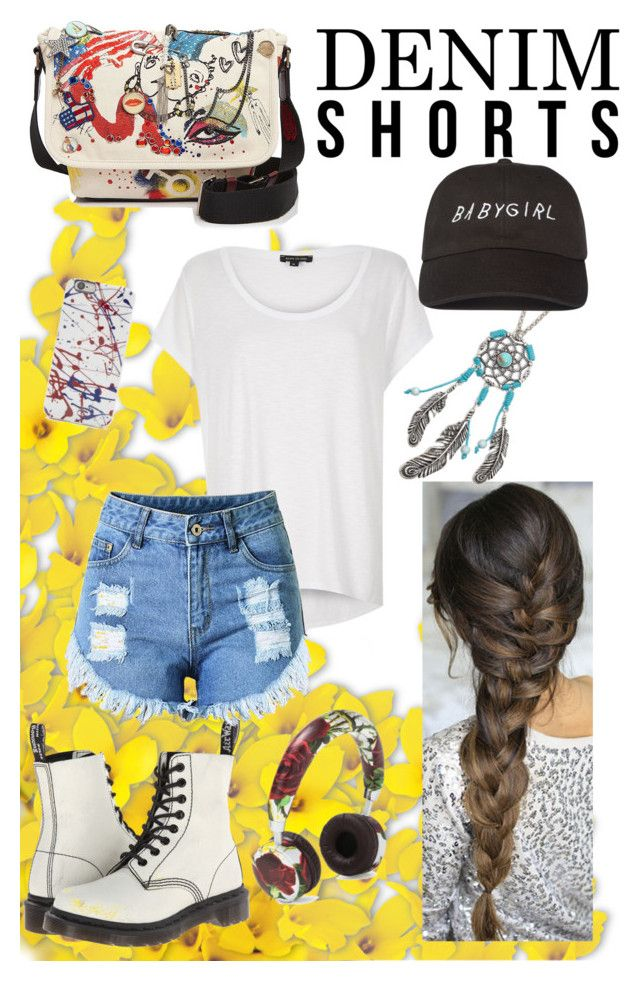 """Summer"" by cclynn on Polyvore featuring Dr. Martens, Marc Jacobs, Dolce&Gabbana, River Island, Decree, jeanshorts, denimshorts and cutoffs"