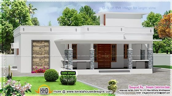 2486 Square Feet Sloped Roof Kerala Style Elevation Flat Roof