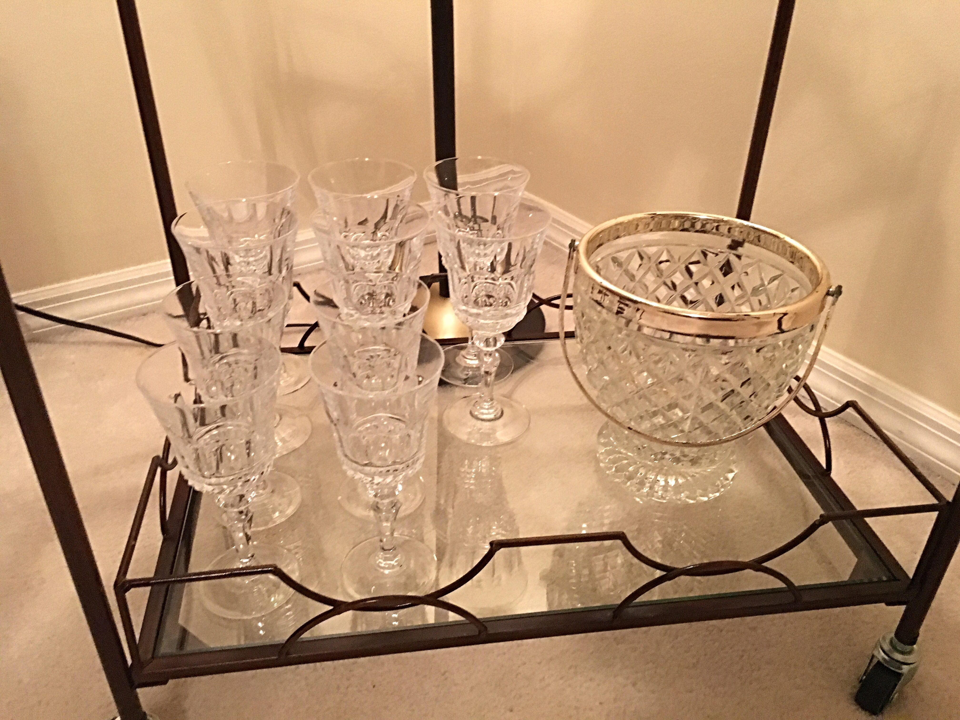 Vintage crystal and glass ware