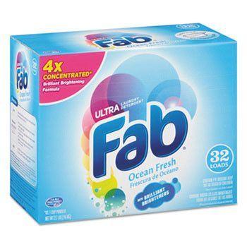 2x Powdered Laundry Detergent, Ocean Breeze, 2.1lb Box, 4/carton