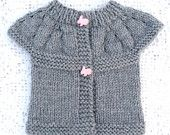 Sweater / Jacket / Baby / Pink / Grey /  Handmade / Ready to ship