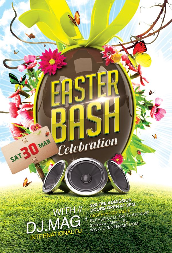 Easter Flyer Template by Marcus Vaz via Behance – Easter Flyer Template