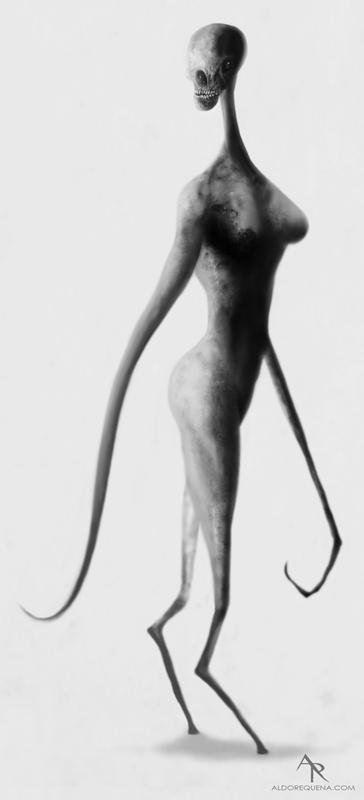 Alien sketch by Aldo Requena
