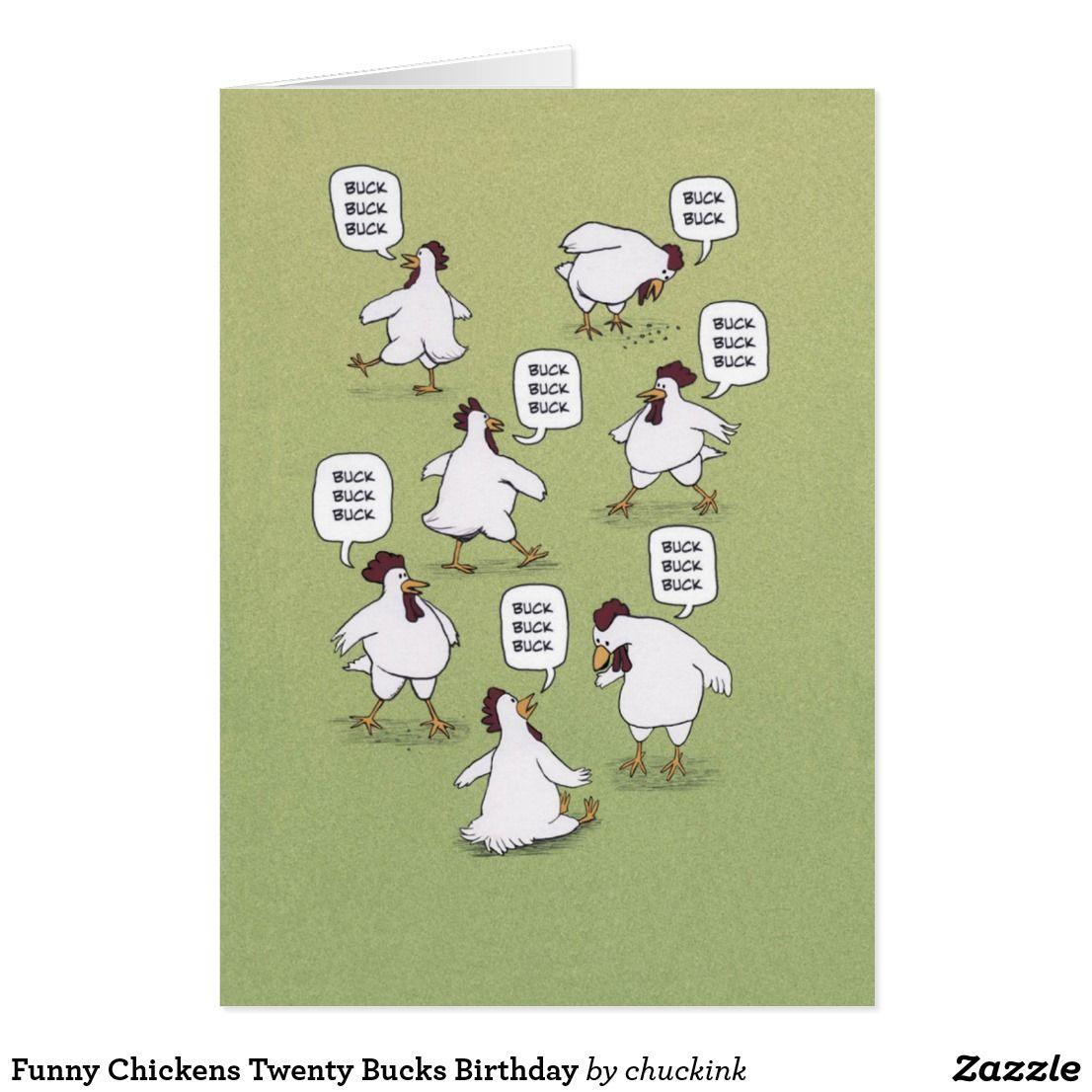 Funny chickens twenty bucks birthday card funny greeting cards funny chickens twenty bucks birthday card kristyandbryce Image collections