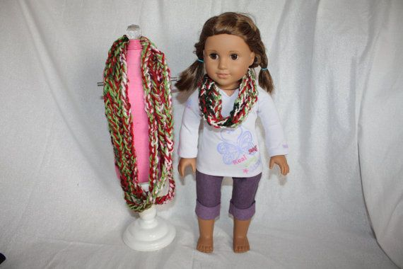 Matching 18in Doll and Girl Crochet Infinity by littleladiesthings