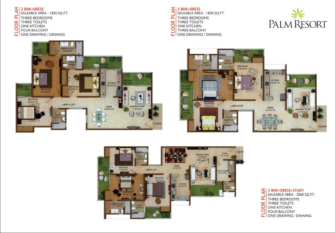 Palm resort floor plans chalet pinterest palm resort for Hotel design layout