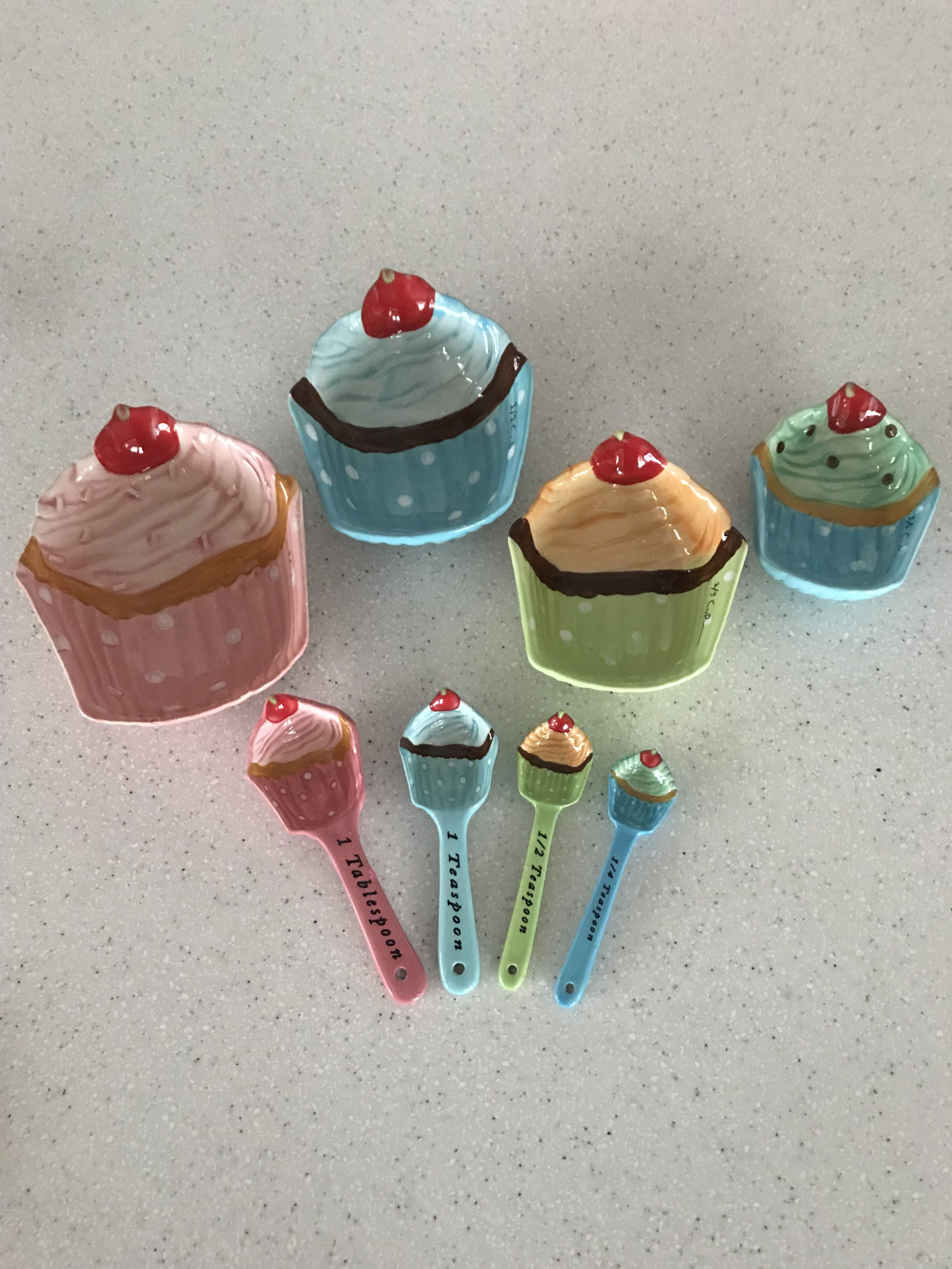 Cupcakes And Cartwheels Measuring Cups Spoons