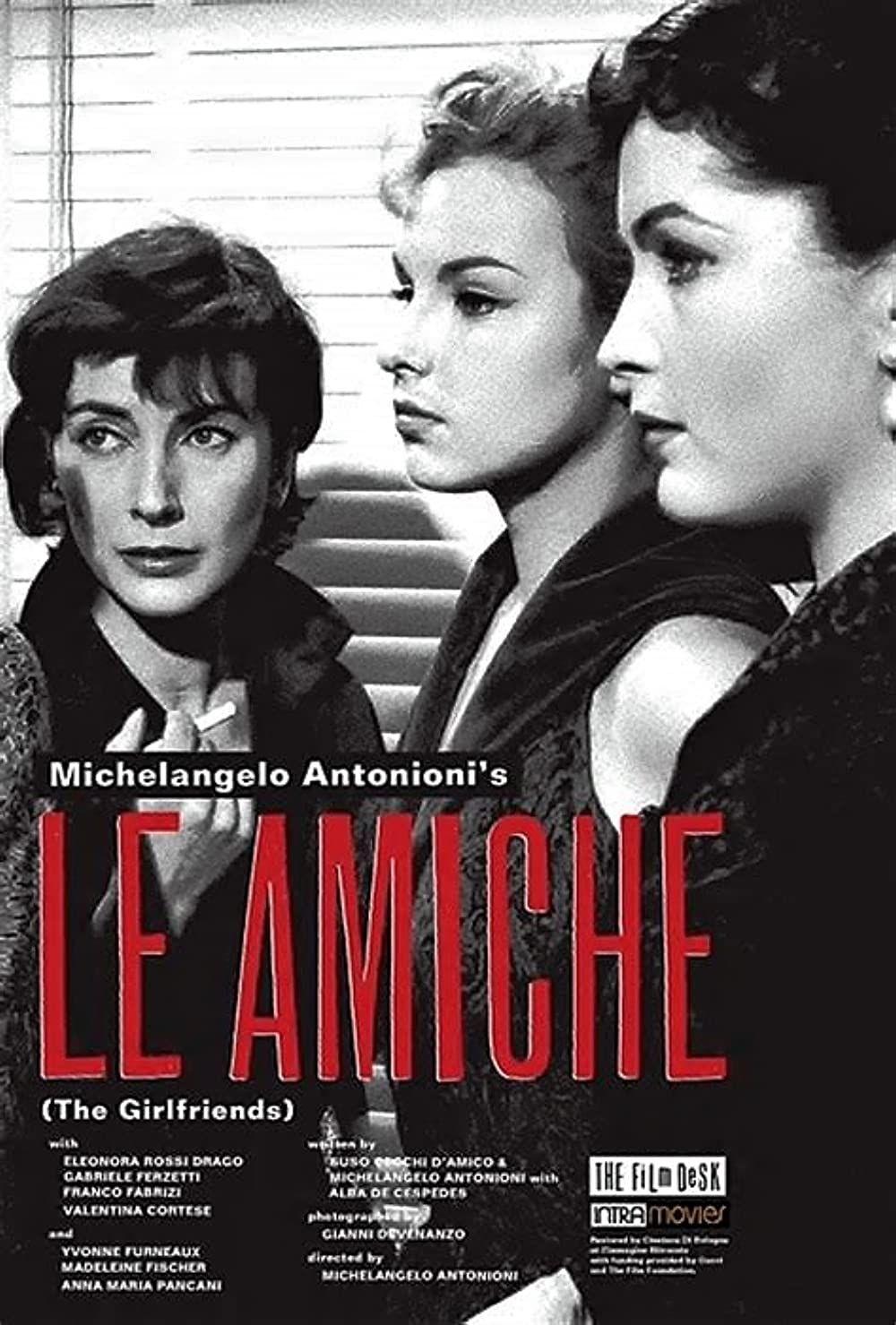 Le Amiche 1955 In 2021 Michelangelo Antonioni The Girlfriends Original Movie Posters