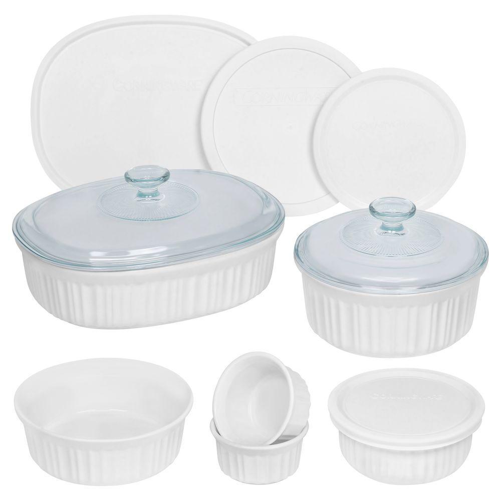 Corningware French White 12 Piece Ceramic Bakeware Set 1117228