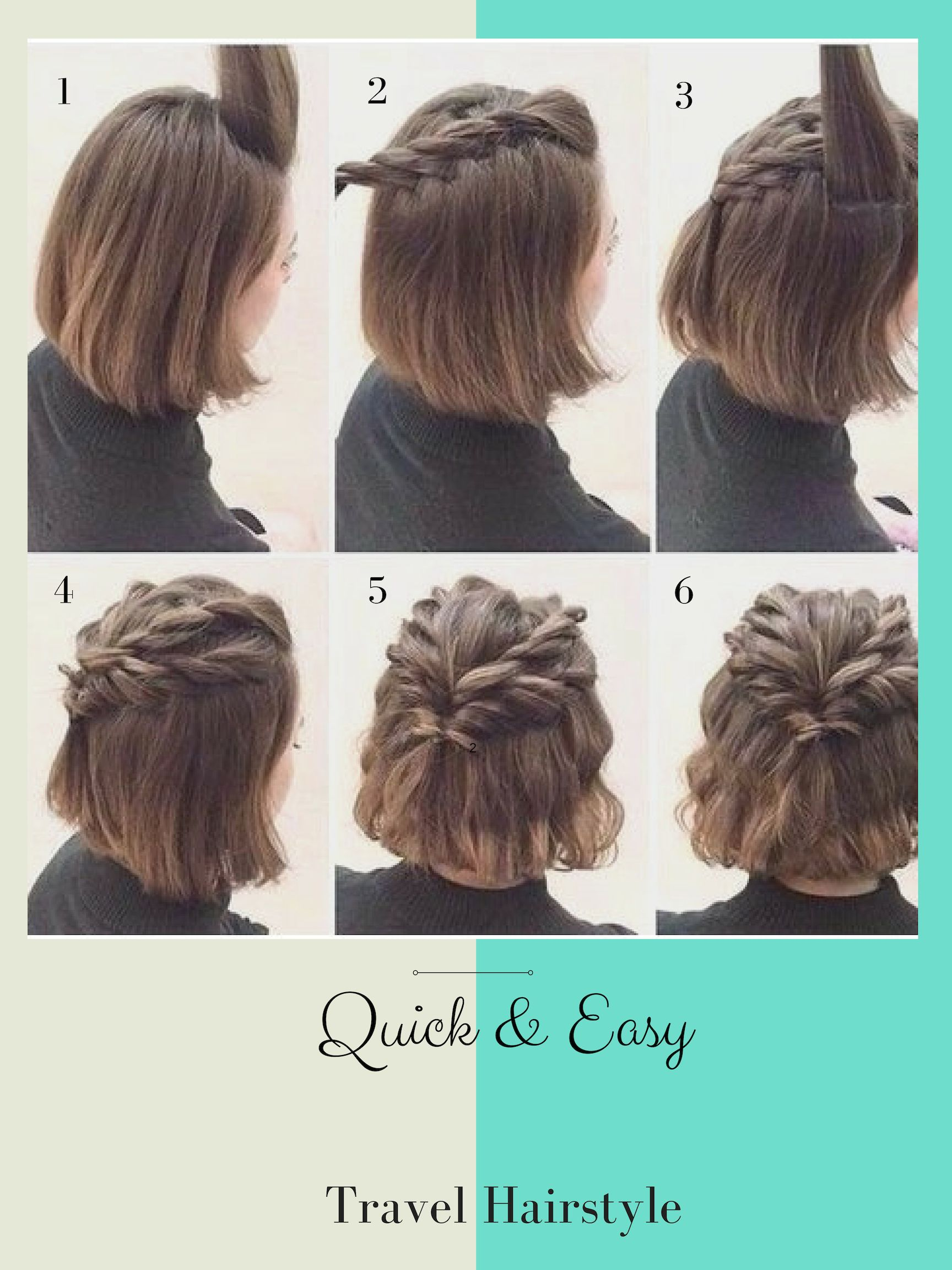 Traveling and are in need of a quick hairstyle? Try this simple but ...