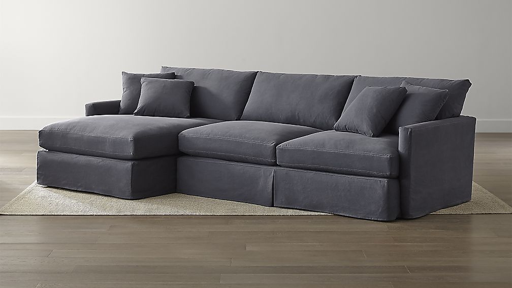Lounge II Slipcovered 2-Piece Sectional Sofa | Crate and ...