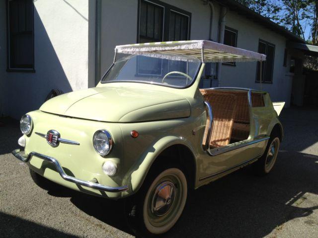 Fiat Nuova 500 Jolly Spiaggina Carrozzeria Ghia (1958-1974)