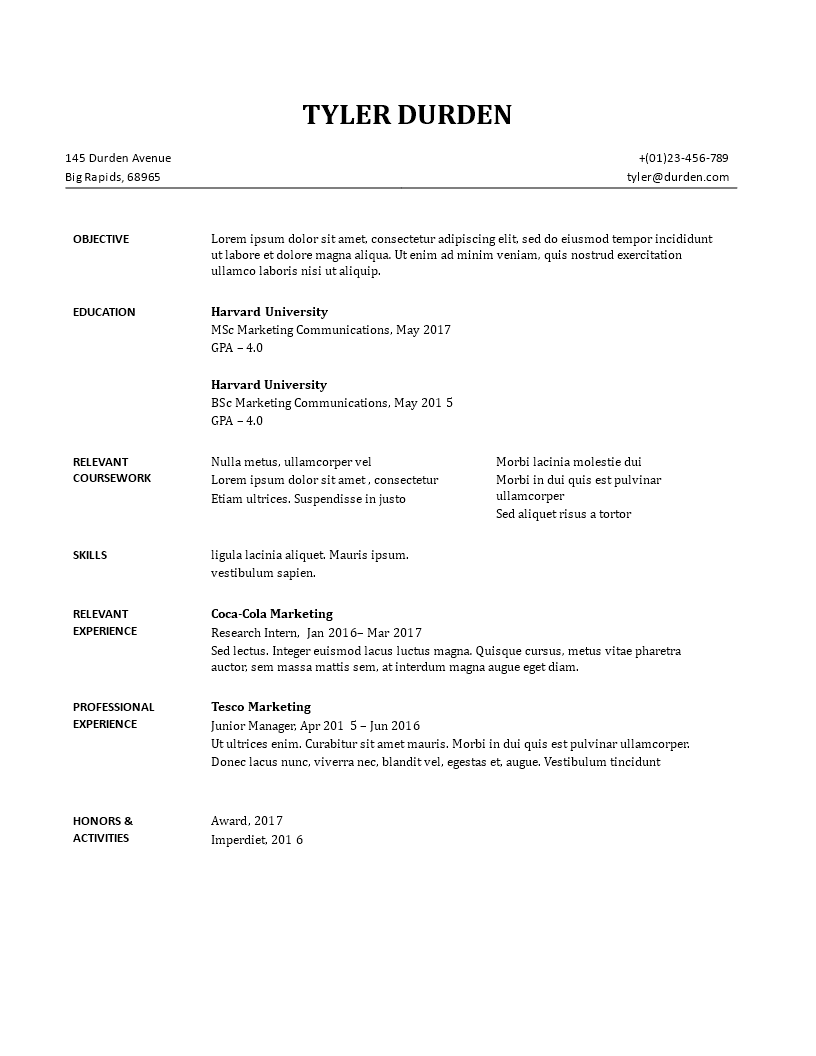Cv Sample How To Grab Your Futures Employer S Attention With Your Cv In Just A Few Seconds When You Are Applyin Resume Templates Sample Resume Resume Format