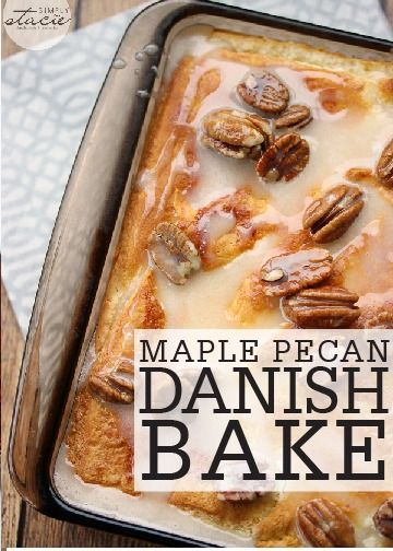 This delightfully buttery and nutty Maple Pecan Danish Bake is a must-try breakfast recipe. This dish is easy enough for a weekend with family, yet impressive enough to serve overnight guests!
