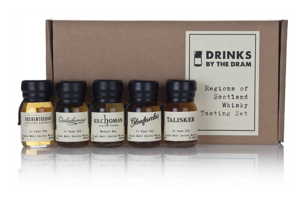 Drinks By The Dram Regions Of Scotland Whisky Tasting Set 5 X 3