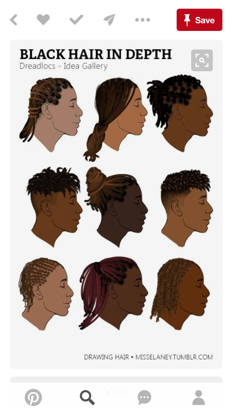 Pin By Nakai Sanders On Art Hair Art How To Draw Dreadlocks How To Draw Hair