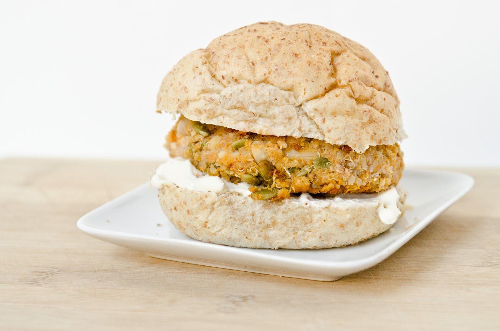 Butternut Squash Nut Burgers with Roasted Garlic Aioli