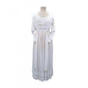 Vintage Wedding Dress Edwardian Style Lace And Long Sleeves Dresses 1960 Wedding Dress Wedding Dresses Vintage