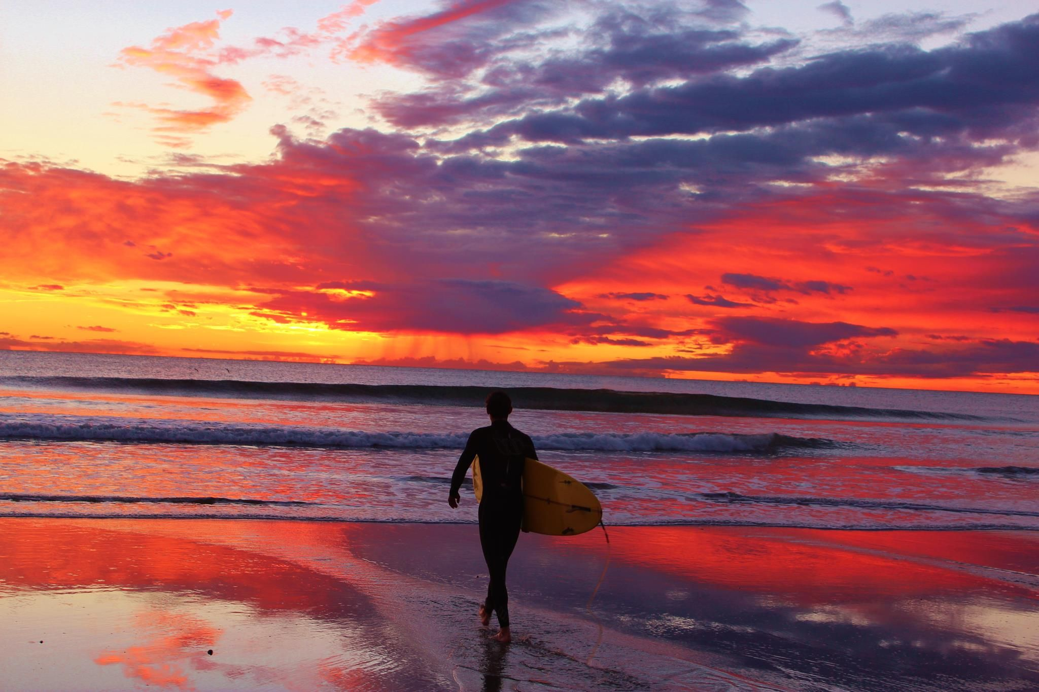 Thanks Rusty Sharman For This Amazing Picture Of Oceanside California D Sunset Beach Reflection Ocean Surf California Beach Oceanside Beach Sunset