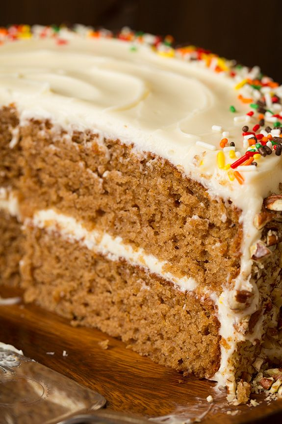 Autumn Spice Cake With Cream Cheese Frosting Cooking