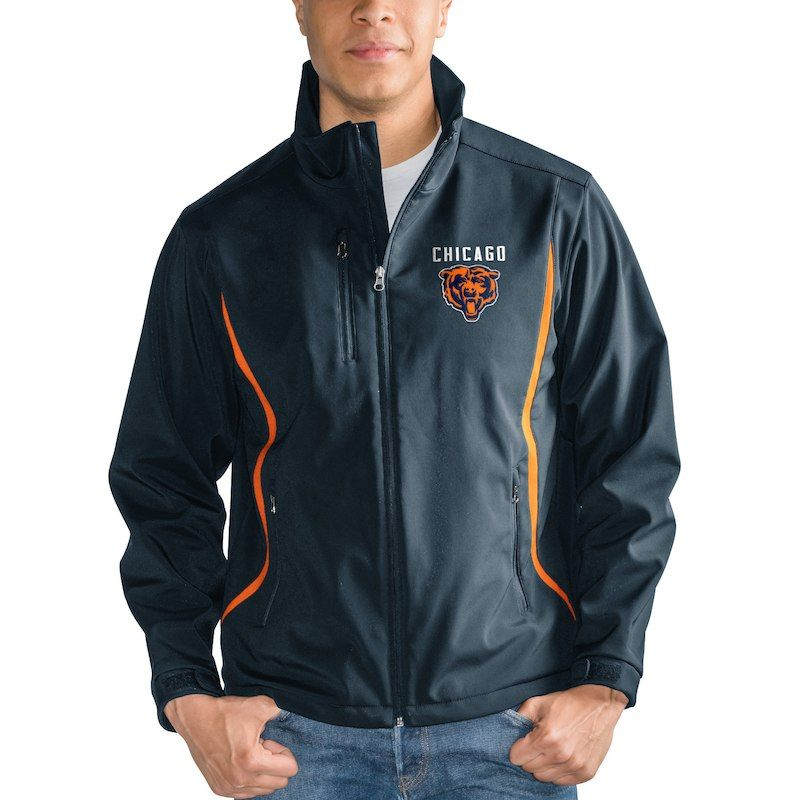 6bb44f41 Chicago Bears G-III Sports by Carl Banks Soft Shell Bonded Full Zip ...