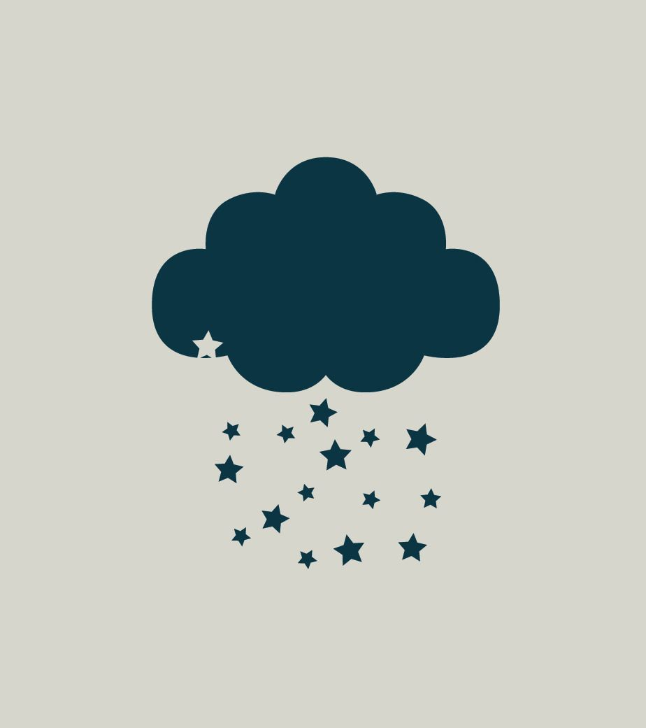 Pochoir nuage. Pochoir étoiles (ref 470-3) | Enfant