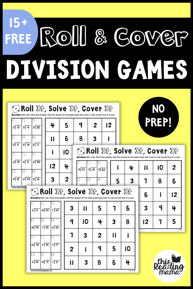 Candid image with printable division games