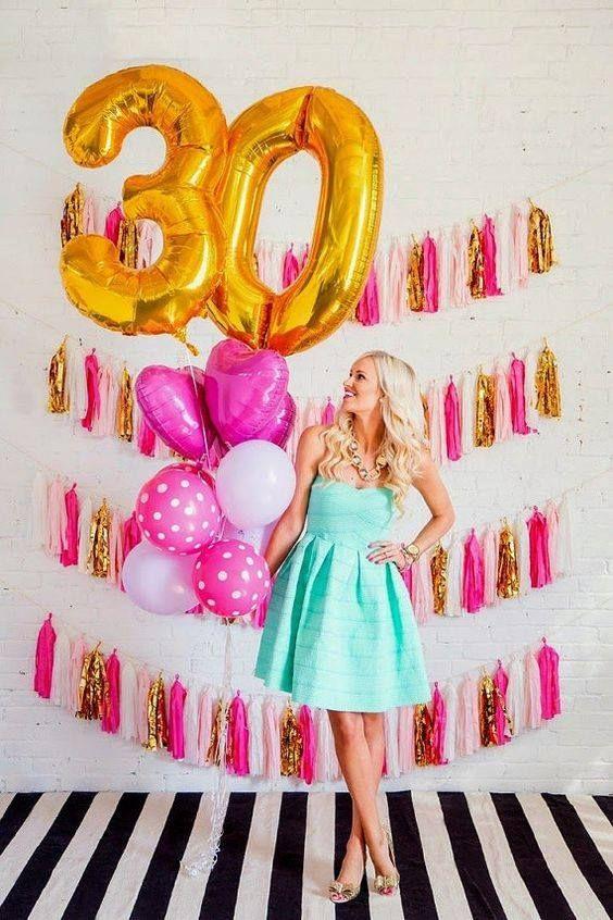 Ideas De Sesión De Fotos Para Cumpleaños Número 30 Http Cursodeorganizaciondelhogar Com Ide Creative Birthday Party Ideas 30th Birthday Parties 30th Birthday