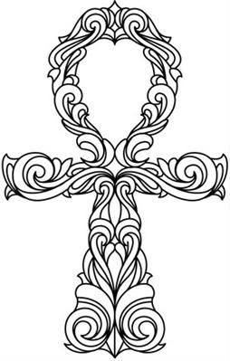 Ornate Ankh Image Ankh Tattoo Pattern Coloring Pages Ahnk Tattoo
