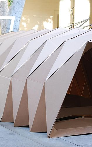 origamiinspired cardboard homeless shelters to help